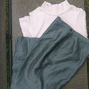 Gray ladies trousers size 10